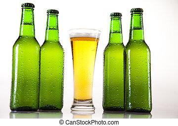 Bottle of beer  - Beer collection, glass in studio.