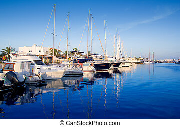 Formentera marina port in Balearic Islands - Formentera...