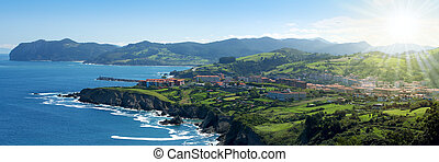 Beautiful atlantic shore in Basque country