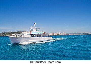 Ibiza boats in San Antonio de Portmany bay