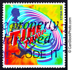 Postage stamp GB 1995 Illustration for Time Machine