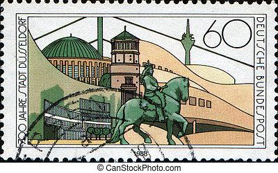 Dusseldorf - FEDERAL REPUBLIC OF GERMANY - CIRCA 1988: A...