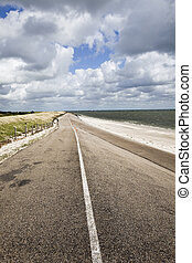 Road and beach - Sandy beach during summer and holidays.