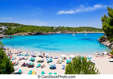 Ibiza Portinatx turquoise beach paradise island - Ibiza...