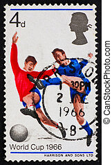 Postage stamp GB 1966 Soccer Players - GREAT BRITAIN - CIRCA...