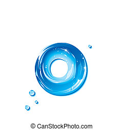 Water Liquid Letter -Small Letter o - Liquid Alphabet Gel...