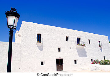 Ibiza white church in Sant Carles Peralta