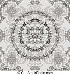 vector seamless vintage floral retro pattern, elements can...