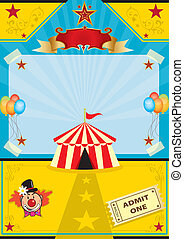 Circus on the beach - A circus tent on a beach New...