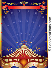 Big top at night - A poster on circus theme for you