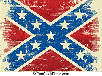 confederate flag - An old confederate flag for a poster.