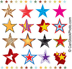 Set of stars - A set of several star shapes