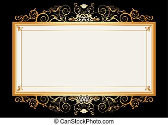 Gold retro frame - A frame with a large space for your...