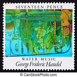 Postage stamp GB 1985 Reflections in Pool - GREAT BRITAIN -...
