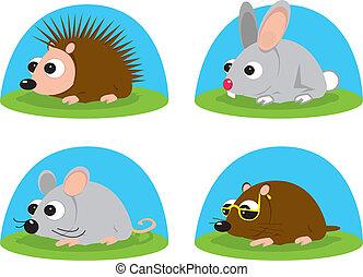 little animals - Illustration of little animals