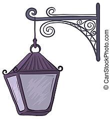 Antique lantern - Vintage nonluminous street lamp, hanging...