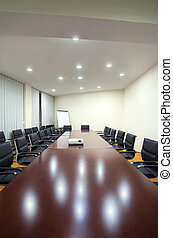 Conference room - Interior of a conference room in a hotel...