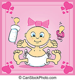 Wonderful girl - Just a card of a baby girl