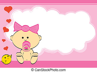 girl - greeting card of a baby girl.