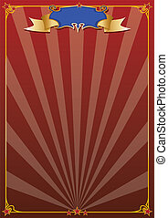 red circus background -  A circus poster for your message.