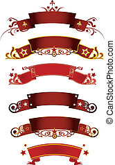 Red banners - A set of red banners