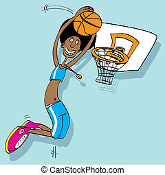 Basketball player - A basketball player cartoons style