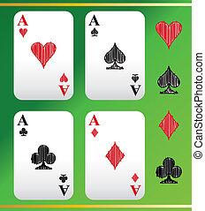 aces - A set of playing cards