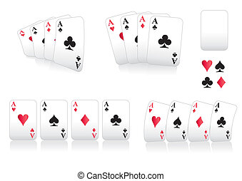 aces curved - A set of playing cards