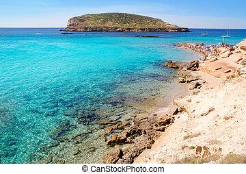 Ibiza cala Conta Conmte in San Antonio with isla del bosque