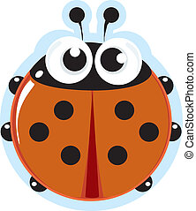 Ladybird - Stock Vector Illustration: Ladybird. little...