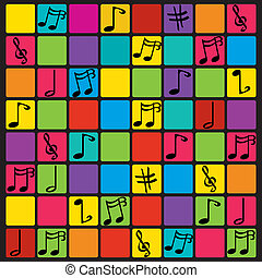 notes background - musical background