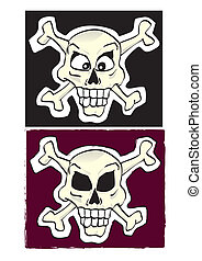 skull - Two flags with a skull