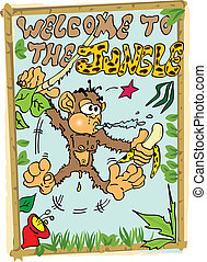 welcome to the jungle - Monkey in the jungle