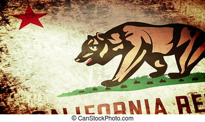 California State Flag Waving