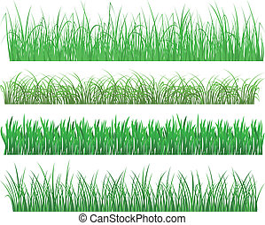 Green grass and plants - Green grass and plant elements...