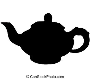 The Teapot - On white background, is drawn teapot The vector...