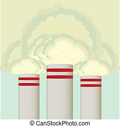 Air pollution cloud from stalk