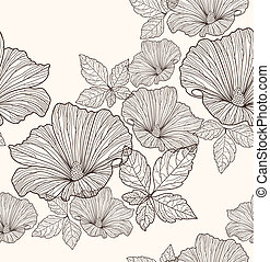 Seamless flowers pattern - Seamless floral pattern....