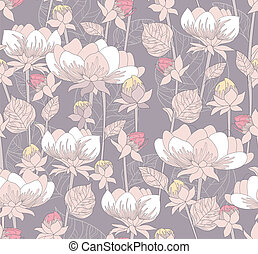 Cute retro seamless floral pattern