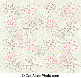Seamless floral pattern - Seamless cute floral pattern...