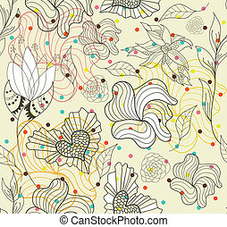 seamless cute abstract pattern