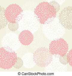 Seamless summer flowers pattern