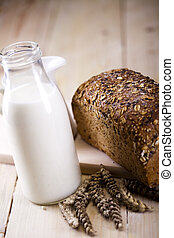 Milk&bread - Bread is one of the basic kinds of food in...