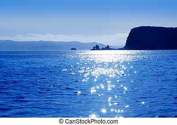 Ibila isla del bosque Bosc sunrise in blue mediterranean