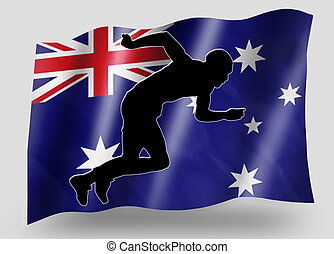 Country Flag Sport Icon Silhouette Australia Athletics