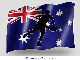Country Flag Sport Icon Silhouette Australia Rugby Pass