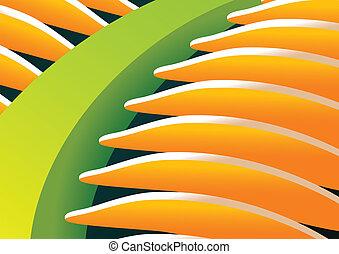 Palm Leaf - Palm leaf close up, vector eps8 illustration