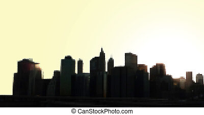 Manhattan Panorama - Manhattan panorama, vector eps8...