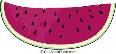 Watermelon - Slice of nice fresh watermelon, vector eps8...