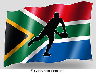 Country Flag Sport Icon Silhouette South Africa Rugby Pass